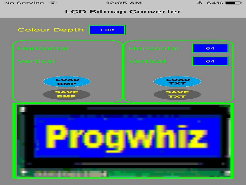 LCD to BMP Converter for iOS