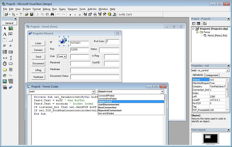 Click to view TCP ActiveX screenshots